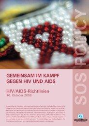 GEMEINSAM IM KAMPF GEGEN HIV UND AIDS - SOS-Kinderdorf ...