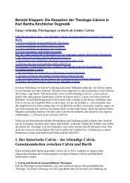 Bertold Klappert: Die Rezeption der Theologie ... - reformiert-info.de