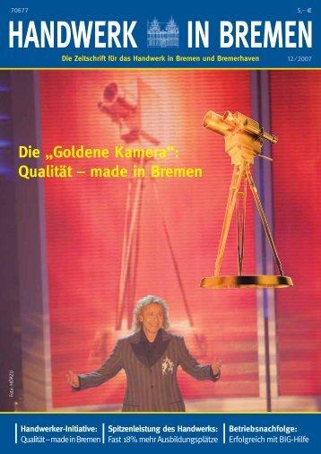 """Die """"Goldene Kamera"""": Qualität – made in Bremen"""
