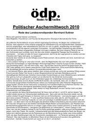 politischer aschermittwoch2010 - ÖDP Bayern