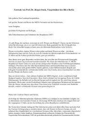 Festrede von Prof. Dr. Jürgen Stock, Vizepräsident des BKA Berlin