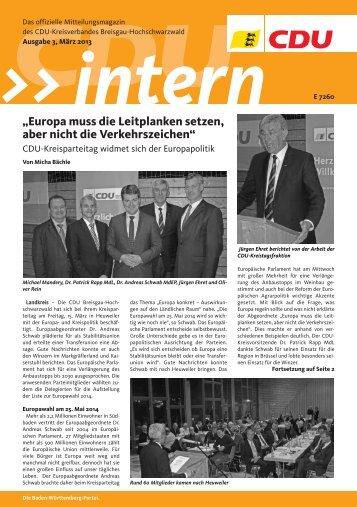 """""""Europa muss die Leitplanken setzen, aber nicht ... - CDU-Ortsverein"""