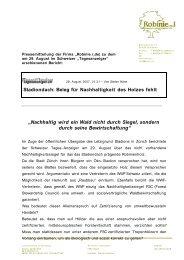 Verwendungskriterien keilgezinkte Robinienprodukte - FSC Watch