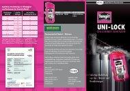 Tangit Unilock Gewinde-Dichtfaden Broschüre 2011 - Walraven