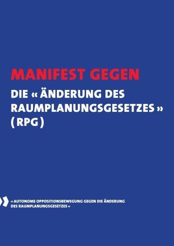 Manifest gegen