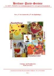 Berliner-Party-Service Katalog