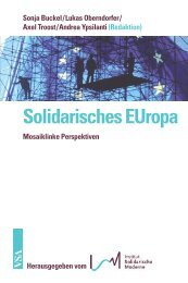 Solidarisches EUropa - VSA Verlag
