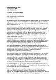 09.11.06 Jubilarehrung Rede Frank Esser - SPD Mülheim an der Ruhr