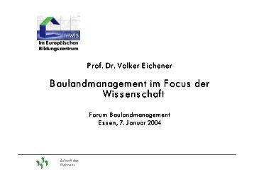 Baulandmanagement im Focus der Wissenschaft - Forum ...