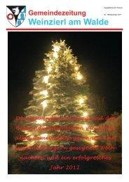 Gemeindezeitung 4. Ausgabe 2011 - Gemeinde Weinzierl am Walde