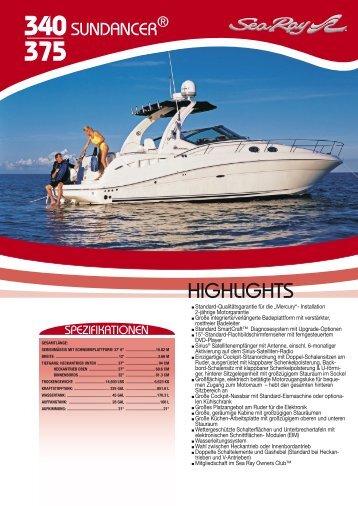 HIGHLIGHTS - Sea Ray Boats