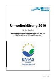 Download Umwelterklärung 2010   PDF - ebswien