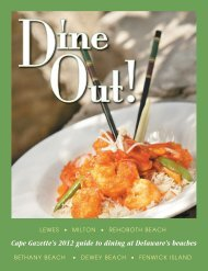 Cape Gazette's 2012 guide to dining at Delaware's ... - VillageSoup