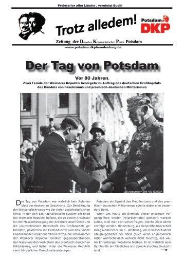 Der Tag von Potsdam - bei der DKP Potsdam