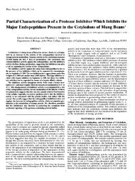Partial Characterization ofa Protease Inhibitor ... - Plant Physiology