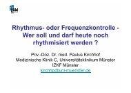 Rhythmus- oder Frequenzkontrolle - Wer soll und darf ... - theHeart.de