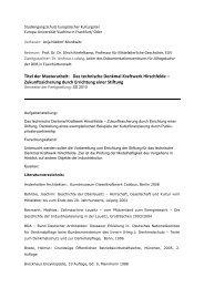 Titel der Masterarbeit: Das technische Denkmal Kraftwerk ...