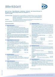 Merkblatt Versicherungsschutz