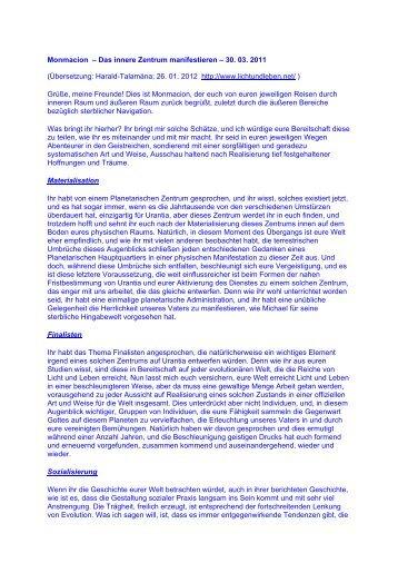 2011_03_30 Monmacion – Das innere Zentrum ... - Licht und Leben