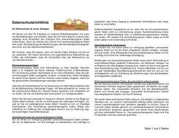Datenschutzrichtlinie - Naturkindergarten Lüneburg