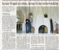 Keine Wand ist eben, keine Ecke rechtwinklig - Erdhaus.ch