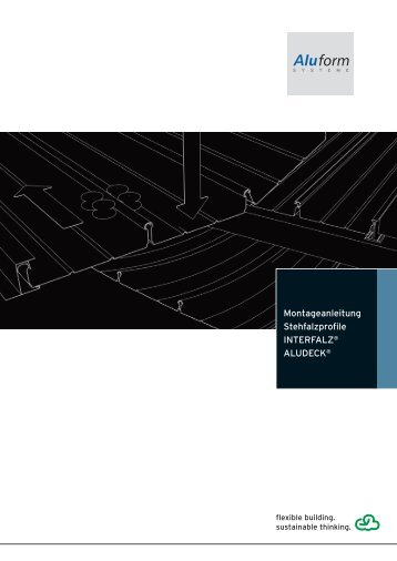 Montageanleitung für Stehfalzprofile FALZRIPP - Aluform System ...