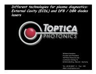and DFB / DBR diodes lasers