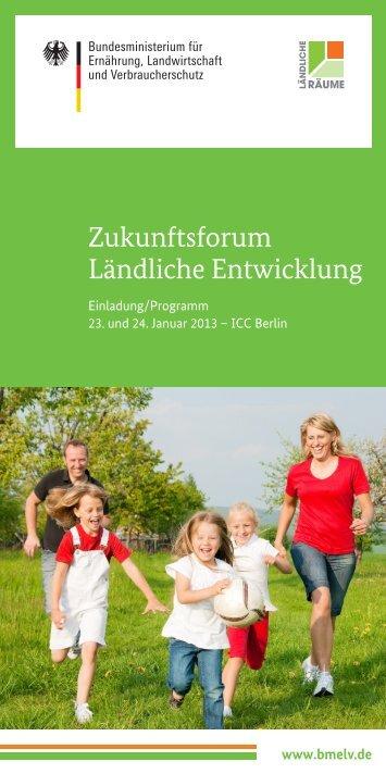 """Programm """"Zukunftsforum Ländliche Entwicklung"""" - Bundesverband der ..."""