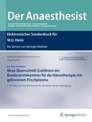 Leitlinien der Bundesärztekammer für die Hämotherapie - Institut für ...