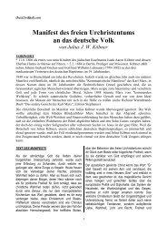 Manifest des freien Urchristentums an das deutsche Volk
