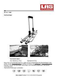 DE Art. Nr. 11807 Deichselträger Technische Daten ... - faventis GmbH