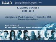 Fördermöglichkeiten im Rahmen von ERASMUS Mundus II