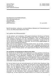 Schreiben an den Ministerpräsidenten Seehofer vom 14.06.2010