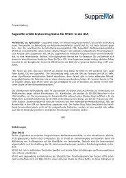Suppremol erhält Orphan Drug Status für SM101 in den USA