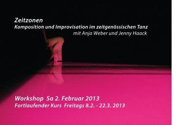 Workshop Sa 2. Februar 2013 Zeitzonen - Jenny Haack