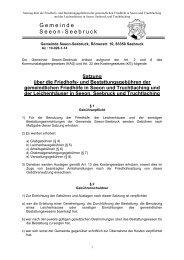 Satzung über die Friedhofs - Seeon - Seebruck