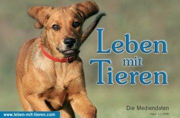 Die Mediendaten - Leben mit Tieren