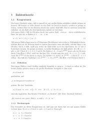1 Zahlentheorie