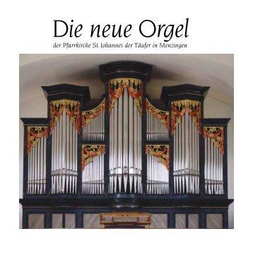 Orgelfestschrift - Pfarrei Menzingen