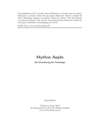 Mythos Apple - Mythos-Magazin