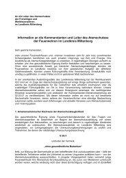 Information an die Kommandanten und Leiter des Atemschutzes der ...