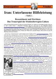 Iran: Unterlassene Hilfeleistung