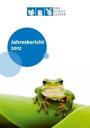 Jahresbericht 2012 - Tierschutzverein des Kantons Luzern