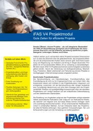 iFAS V4 Projektmodul - iFAS ERP System | Info Nova AG