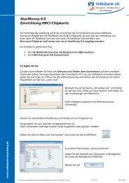 StarMoney 6.0 Einrichtung HBCI-Chipkarte - Volksbank eG ...