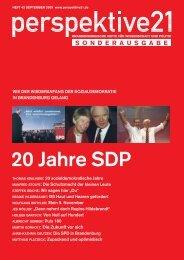 20 Jahre SDP - Perspektive 21