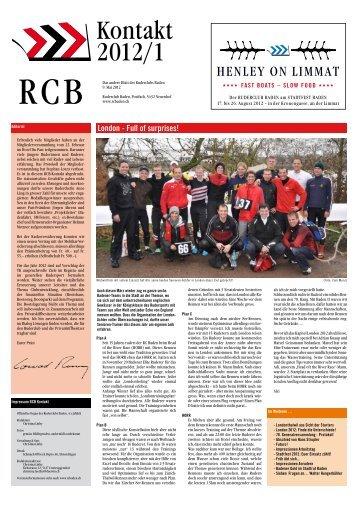 Ausgabe 01/2012 - Ruderclub Baden