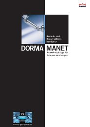 DORMA MANET - V3S Glass Systems