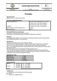 Leistungsverzeichnis Prolaktin - Universitätsklinikum Essen