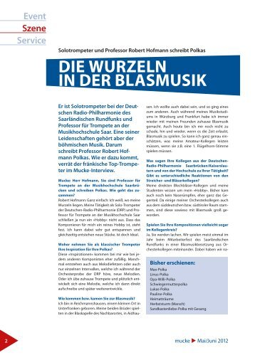 DIe WuRzeln In DeR BlaSMuSIK - Robert Hofmann